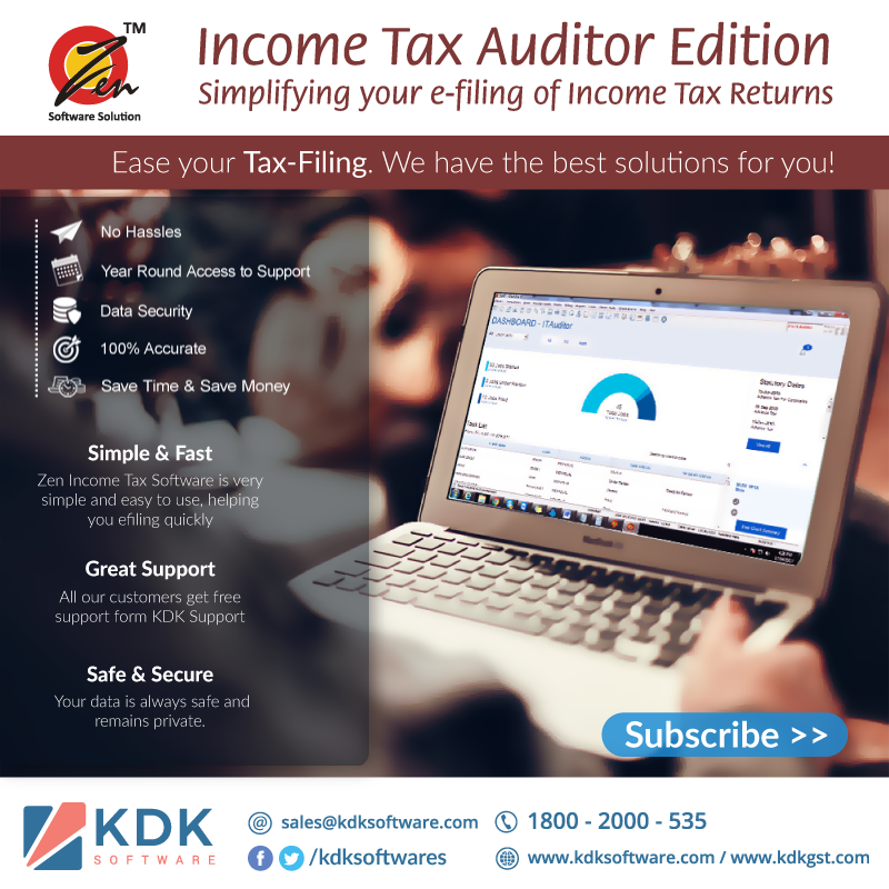 Zen Income Tax Software is a comprehensive compliance solution