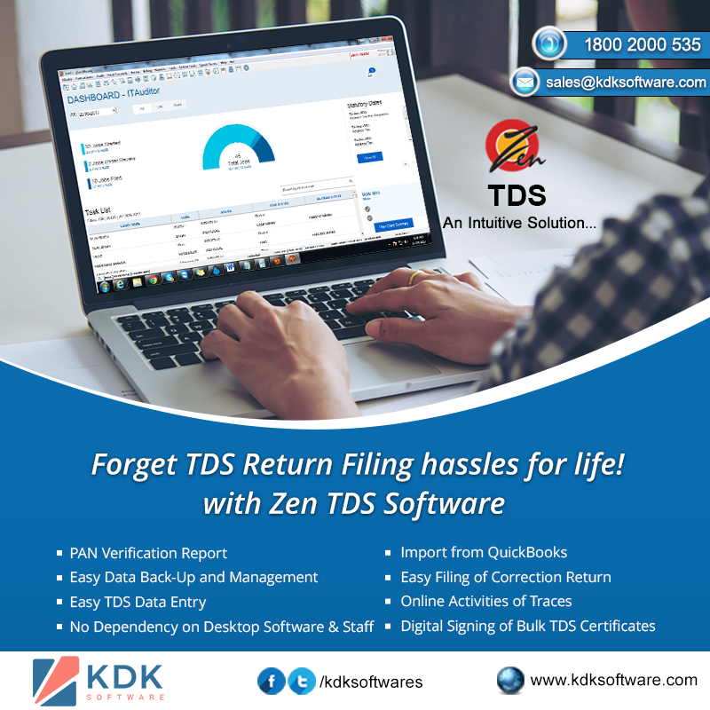 Forget TDS Return Filing hassles for life! with Zen TDS Software
