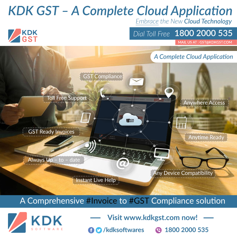 #KDKGST - A Complete #GST #Compliance Solution to run your #Business smoothly.
