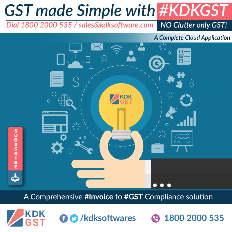 Go for #KDKGST a complete cloud based #Invoice to #Gst #Compliance Solution for #Tax #Professionals & #SMBs.