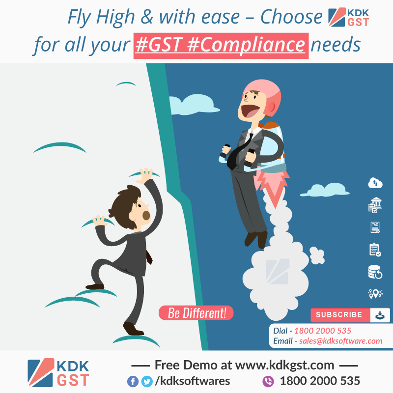 Fly High & with ease – Choose KDK GST for all your #GST #Compliance needs