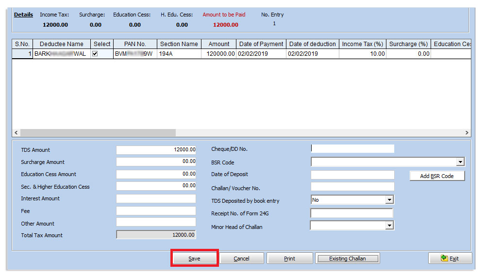 Procedure for Mapping Deductee Entry (Non Salary) and ( Salary)